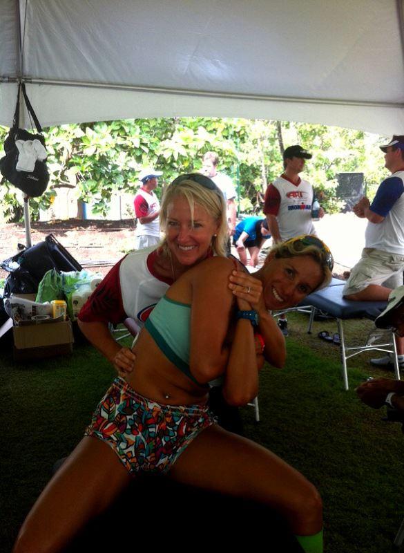 Dr. Kym utilizing ART at Ironman World Championships Kailua-Kona, HI